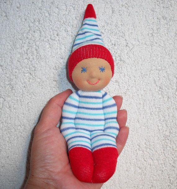 Waldorf Doll Waldorf baby doll Sock  doll by WaldorfDollsByIren