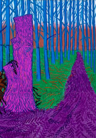 Winter Timber David Hockney.Part of David's Bigger Picture series executed in Yorkshire.