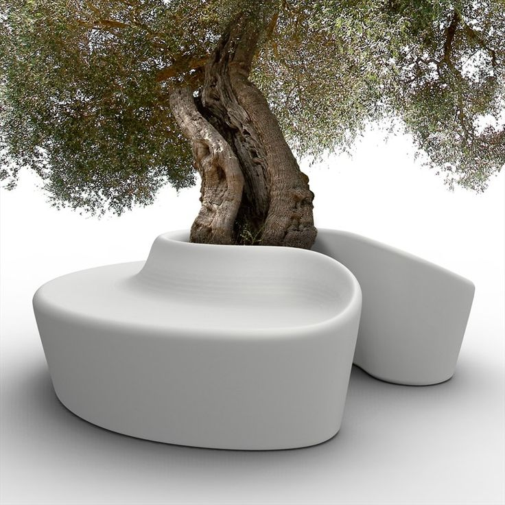 Garden Bench with modern minimalist design by SARDANA