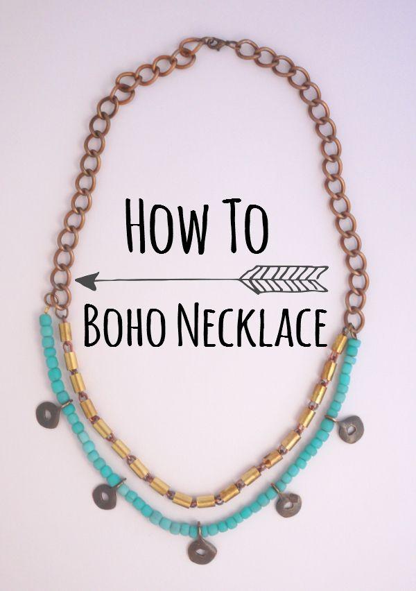 DIY Boho Necklace Tutorial