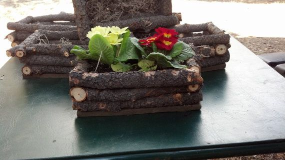 Rustic Wood Planter Boxes Do Not Come Planted Just