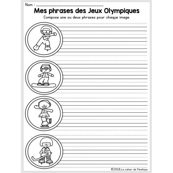 Mes phrases des Jeux Olympiques