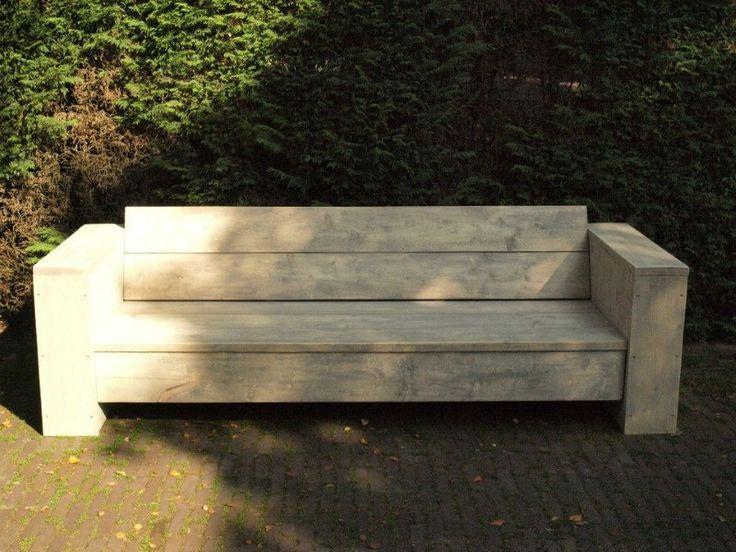 Tuinbank Petra van steigerhout