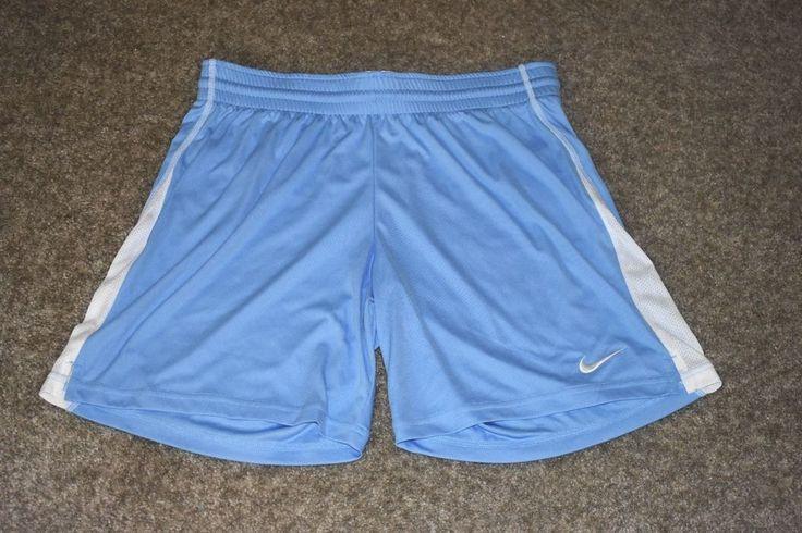 NWT Nike Womens Running Athletic Workout Shorts Blue White Medium M 8-10 #Nike #Shorts
