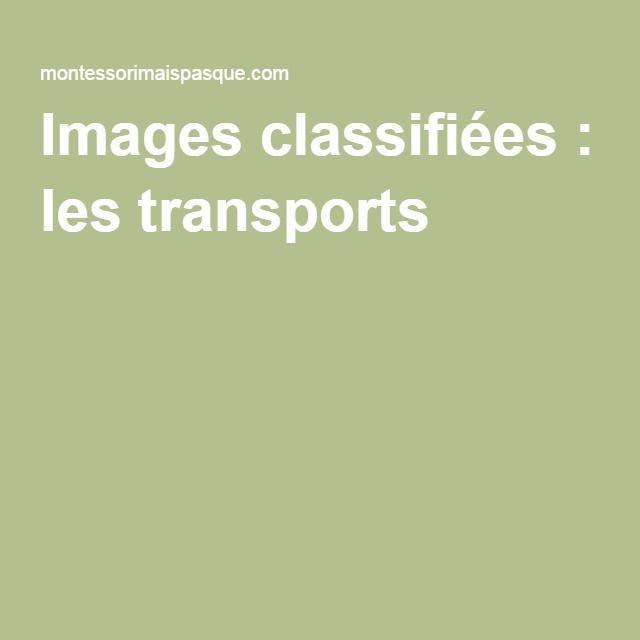 Images classifiées : les transports |