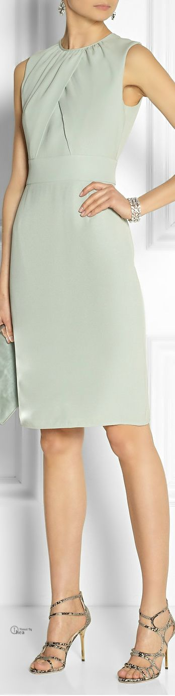 Burberry London ● mint silk-crepe sheath dress
