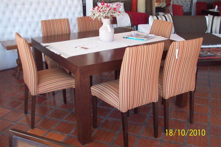 juego de comedor con sillas en punta