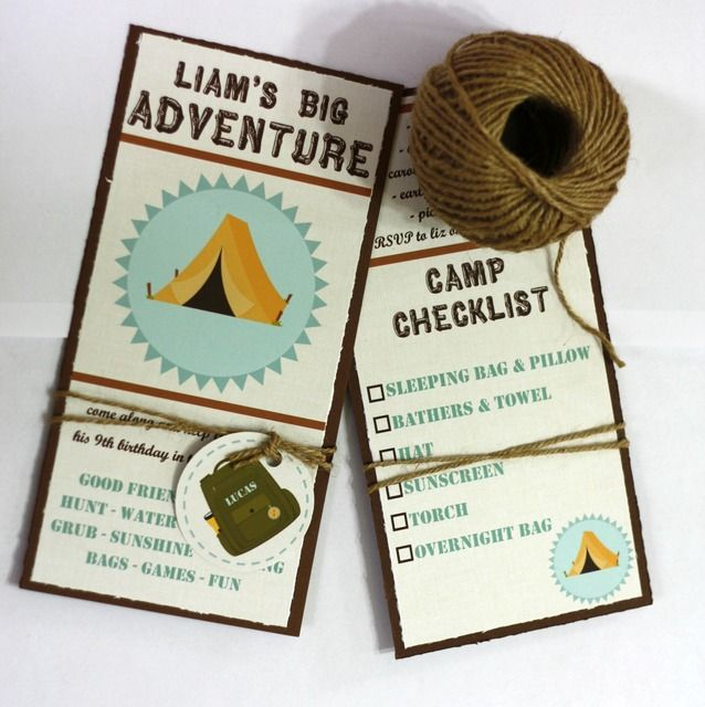 Camping Party Invitation #campingparty #invite