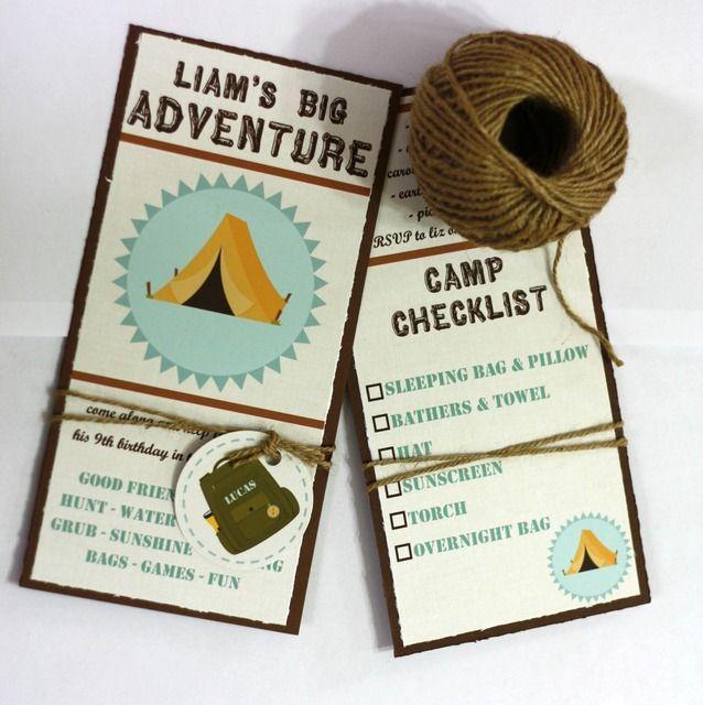 Camping Party Invitation #campingparty #invite