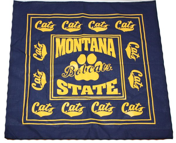This is a fun navy and athletic gold bandana from the MSU Bookstore! #MontanaState