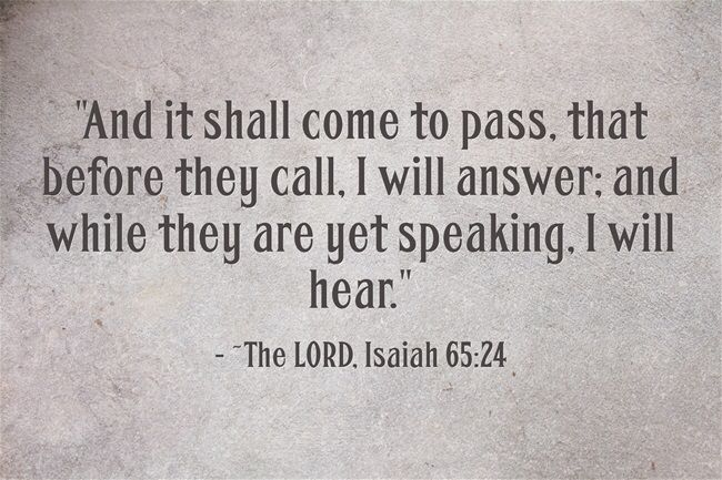 THIS IS SO SWEET!!!! ❤️ Isaiah 65:24