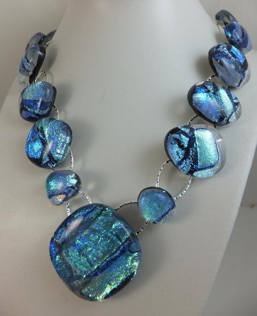 Ice Blue Pendant/Necklace by Cheryl Smith