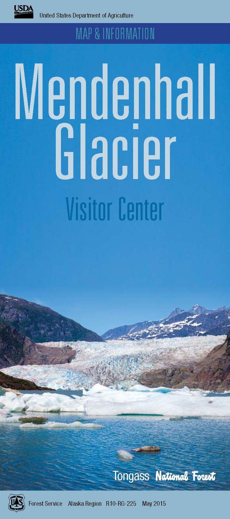 Alaska Major Cities Map%0A Mendenhall Glacier Recreation Area Map  u     Information Front Page