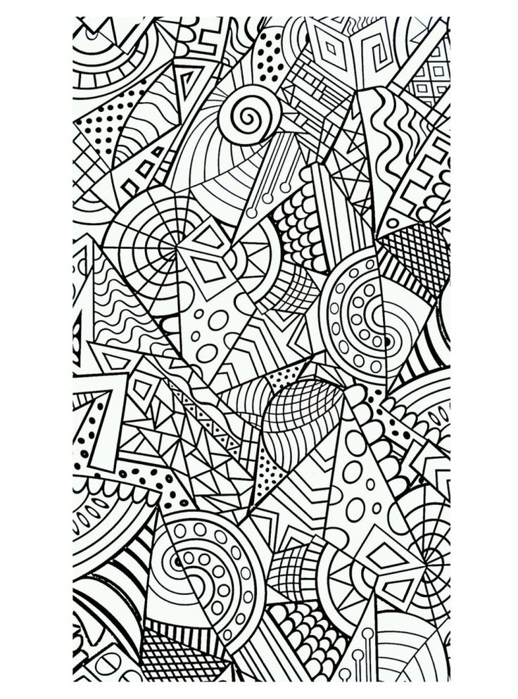 125 Best Abstract Coloring Pages Images On Pinterest