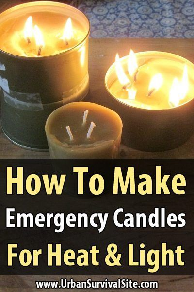 How to Make Emergency Candles. If you want a bright candle that can also keep you warm and even cook food, it's better to just make your own. It just takes a few ingredients, some time, and a bit of experimentation. #DIY #Makeyouwown #Candlemaking #Urbansurvivalsite