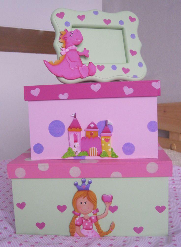 Cajas y portarretrato decorativo