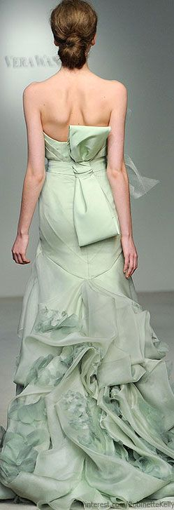 Gorgeous mint green gown by Vera Wang