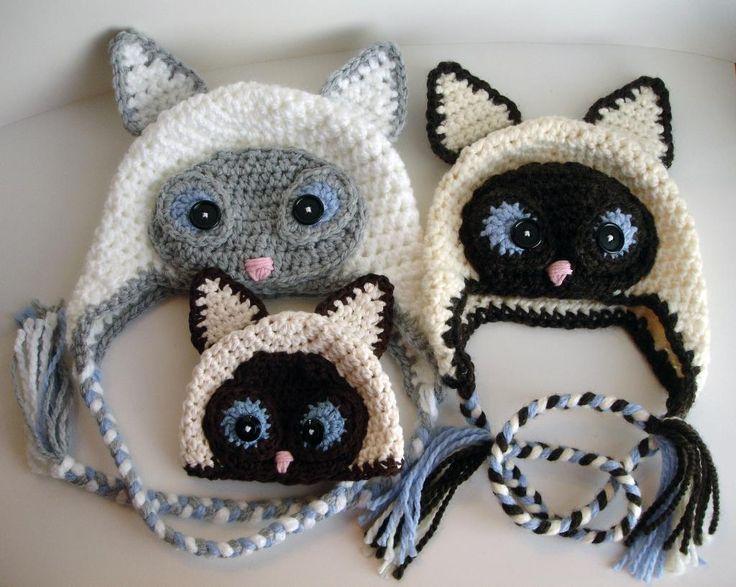 Free Crochet Siamese Cat Hat Pattern