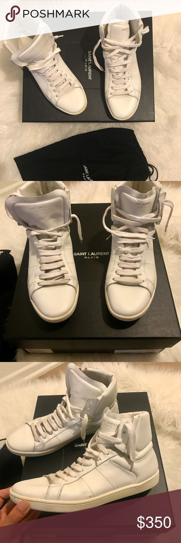 Authentic Saint Laurent sneakers | Good condition Unisex Beautiful Authentic Saint Laurent sneakers. Size 8.5 or 38/39. Super cute! Go with everything. Good condition :) They look exactly as they do in photos! Saint Laurent Shoes Sneakers