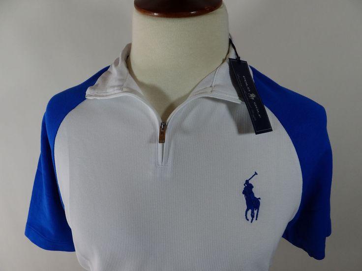 NWT Ralph Luaren Polo Golf Rugby Royal Blue Short Sleeve Shirt Men Shirt Large  #RalphLauren #PoloRugby