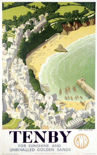 Tenby, GWR poster, 1946. Artwork by Ronald Lampitt.