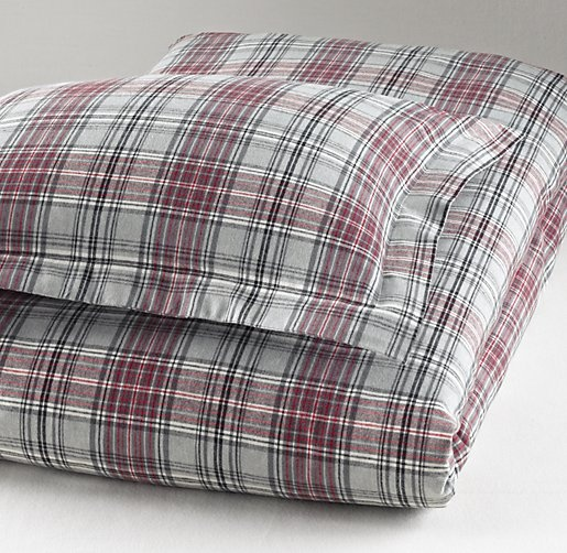 European Cabin Plaid Flannel Duvet Cover   Duvet Covers & Shams   Restoration Hardware Baby & Child