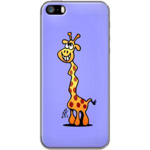 Joyfull Giraffe By CardVibes for Apple  iPhone 5/5s  #TheKase #Cardvibes #Tekenaartje #iPhone #Smartphone #cover #case