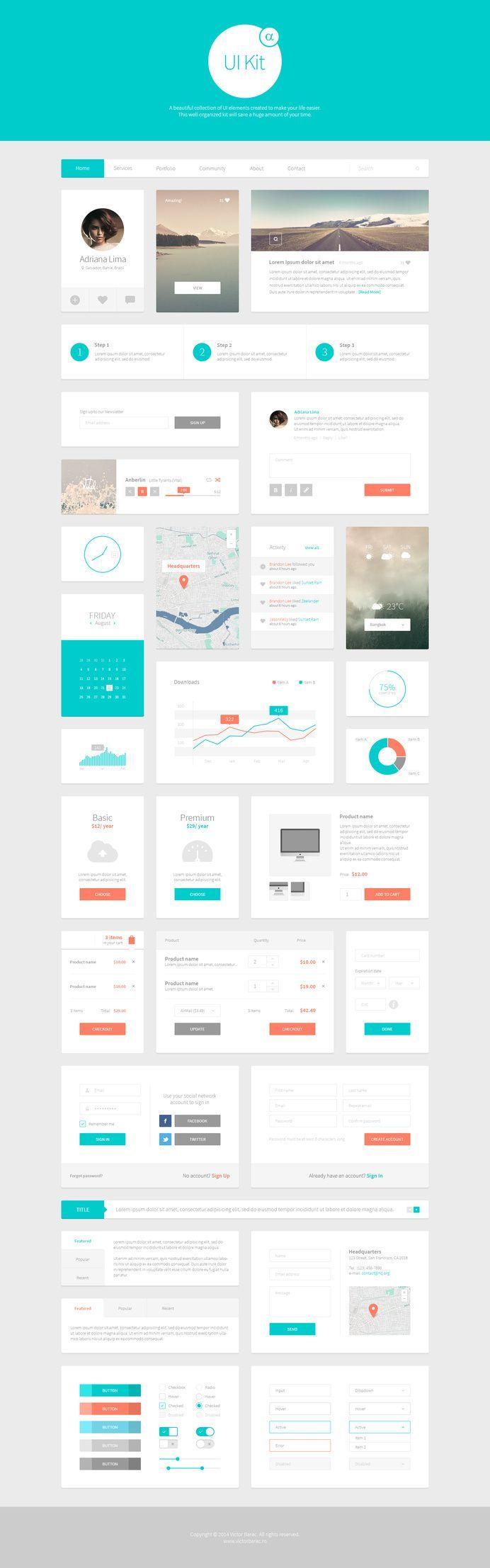 Alpha UI Kit Web Elements 1 in Dashboard