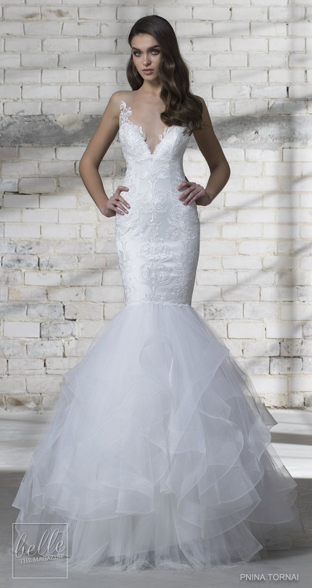 Ruffle Mermaid Wedding Dresses From Kleinfled at Bottom