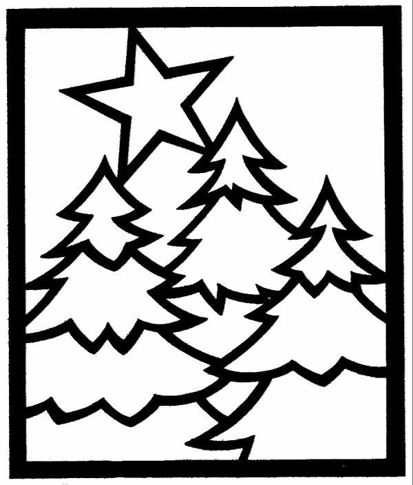 dikke lijnen kerstboom kleurplaat voor de allerkleinste