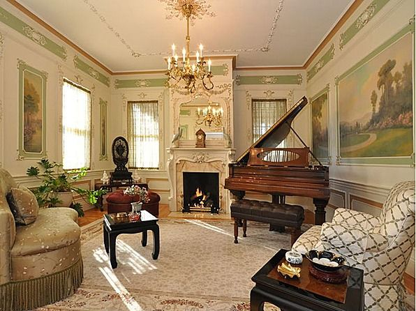 colonial style living room for the home pinterest