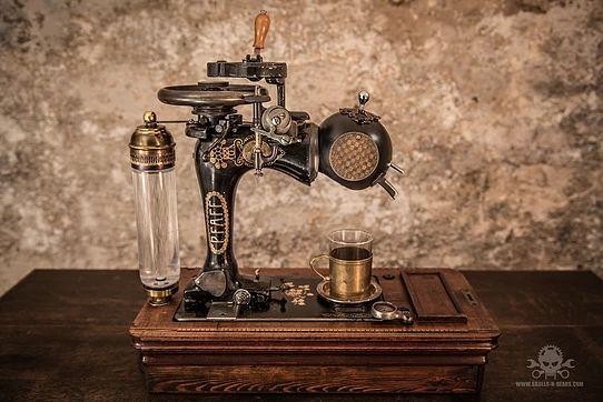 "Steampunk Coffee Machine - ""Pfaff Espresso 1900"""