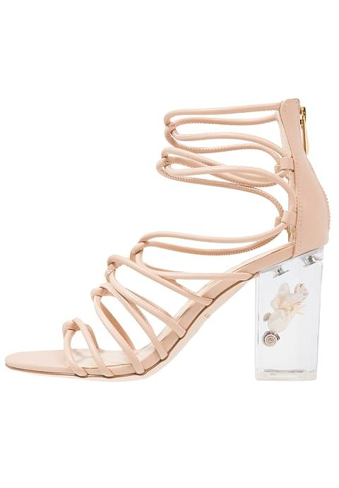Nude sandals with transparant heel - Katy Perry