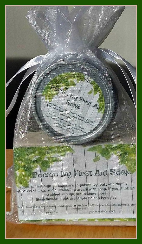 Poison Ivy First Aid Complete Set, Poison Ivy Collection, Poison Ivy Treatment Kit,  Jewelweed Soap and Salve Combo, Poison Ivy Relief, by MelsMysticalGarden on Etsy