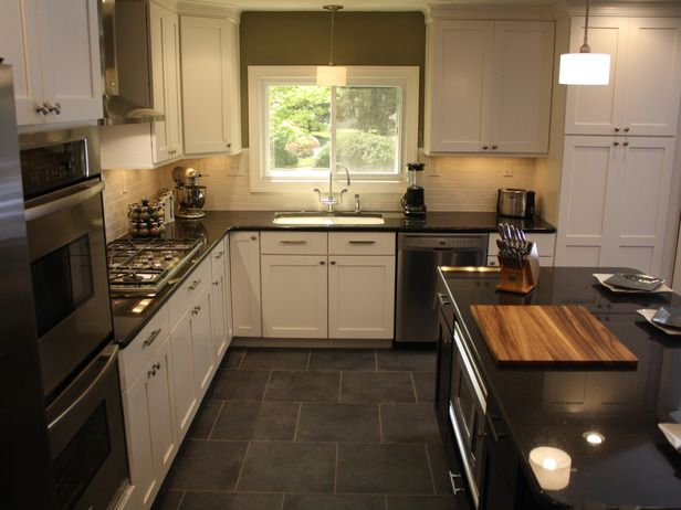 , White Kitchen, Floors, Watch Kitchen, Subway Tiles, White Cabinets