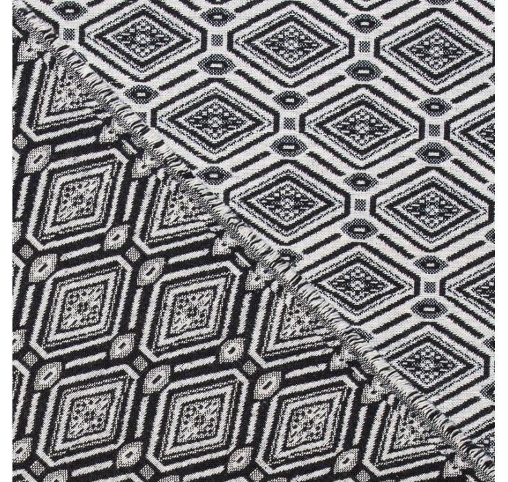 jacquard noir et blanc motif azt que losange tissus. Black Bedroom Furniture Sets. Home Design Ideas