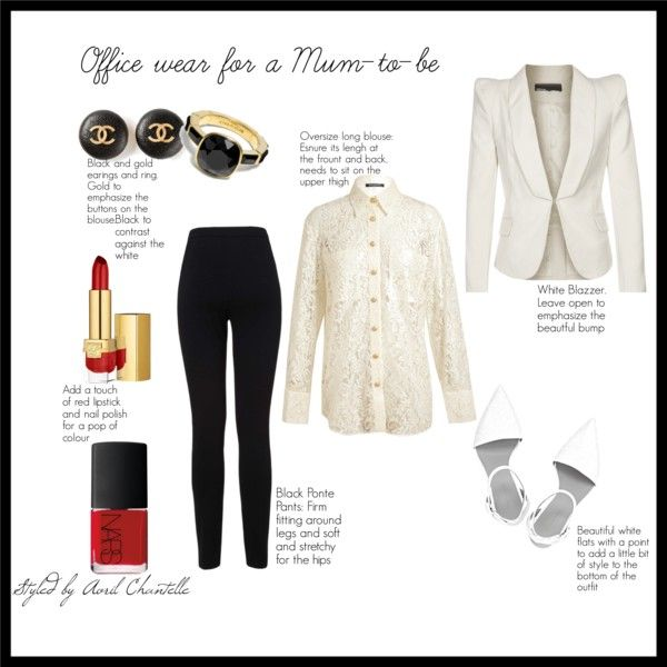 """""""Office Wear for the Mum To Be"""" by avrilchantelle on Polyvore"""