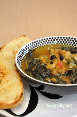 Zuppa di Cavolo Nero, Sedano Rapa e Pioppini