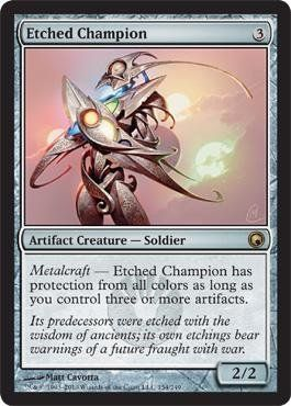 Magic: the Gathering - Etched Champion - Scars of Mirrodin by Wizards of the Coast. $4.93.  This is of Rare rarity.. From the Scars of Mirrodin set..