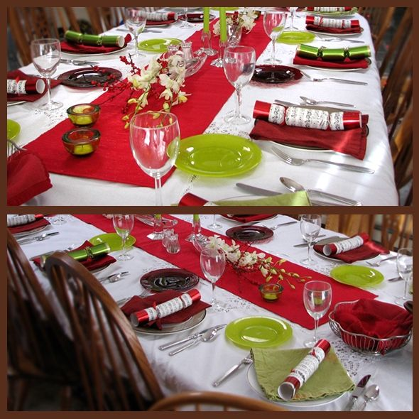 red and green christmas table decor ideas holiday settings - Red And Green Christmas Table Decorations