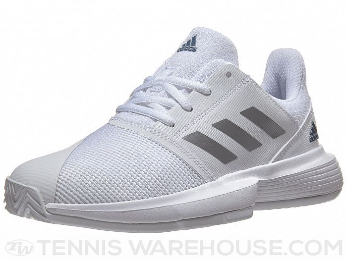 adidas CourtJam xJ WhiteSilverTech Ink Junior Shoes