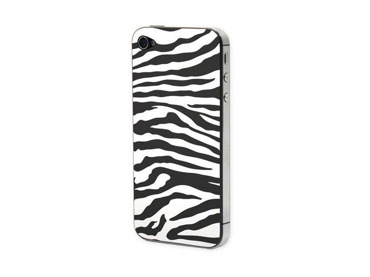 Προστατευτικό Αυτοκόλλητο για iPhone 4/4S (Zebra black-white)