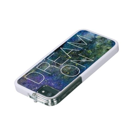 Dream on quote on cosmic, night sky with stars or milky way background for dreamers iPhone 5 case