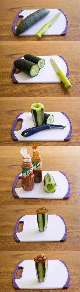 Creative cucumber // Vasitos de pepino