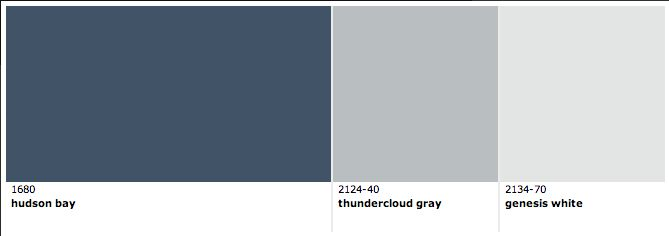 Hudson Bay Thundercloud Gray Genesis White By Benjamin