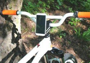 Smartphone-Halter für's Fahrrad selbst gebaut