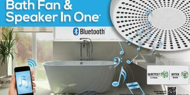I so want this.....Bath fan AND it's a bluetooth speaker!