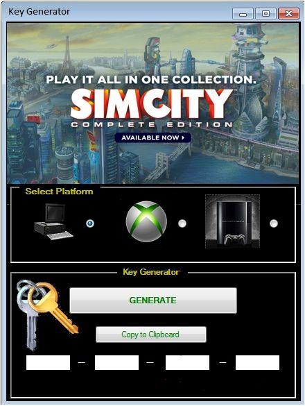 Free Simcity 5 Keygen Tool
