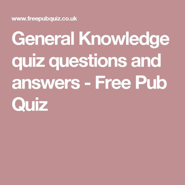 general trivia questions and answers pdf