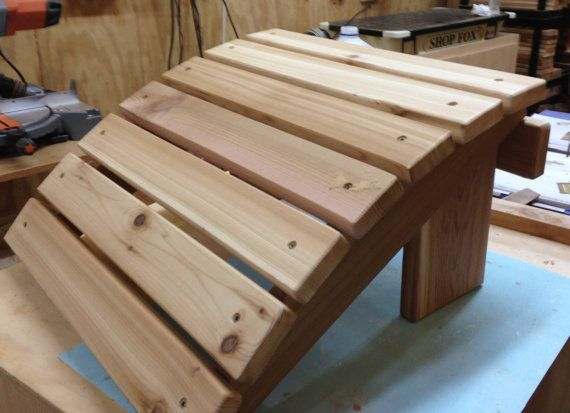 Cedar Ottoman Plans ~ Foot rest for your adirondack chair or glider